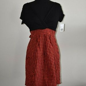 c2db65359a Forever 21 Red Plaid Skirt Black Top Dress